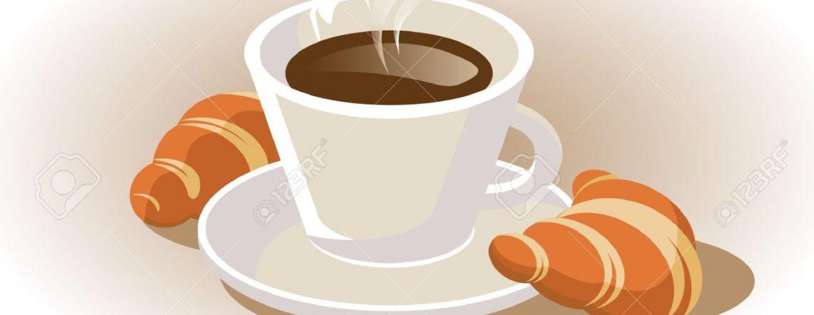 15350858-Tasse-Kaffee-mit-Croissant-Lizenzfreie-Bilder